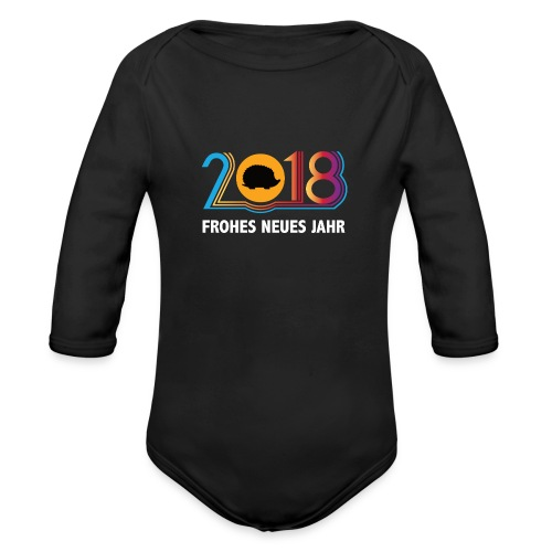 Frohes neues Jahr 2018 Igeldesign - Baby Bio-Langarm-Body