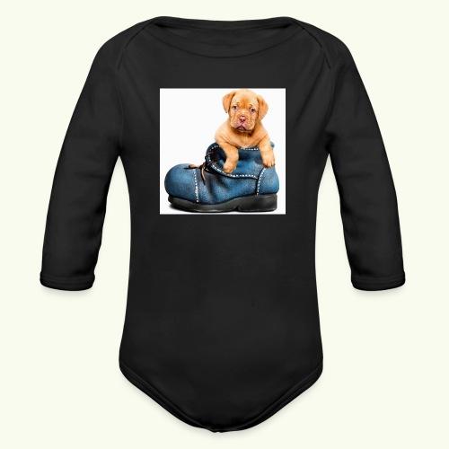Cucciolo - Body ecologico per neonato a manica lunga