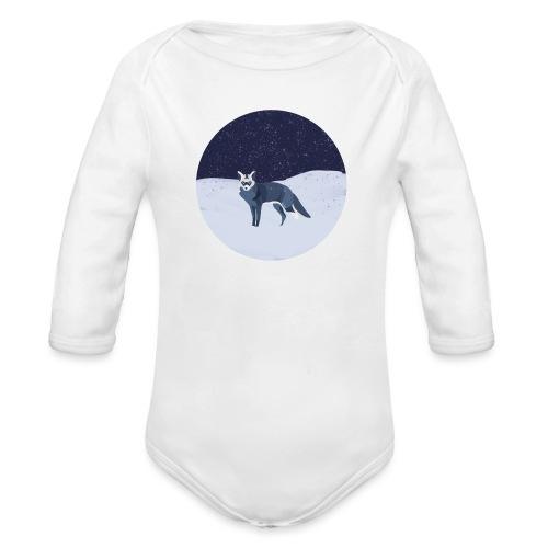 Blue fox - Vauvan pitkähihainen luomu-body