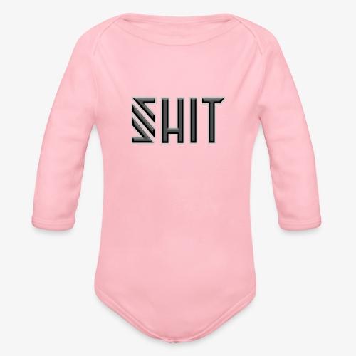 shit - Organic Longsleeve Baby Bodysuit