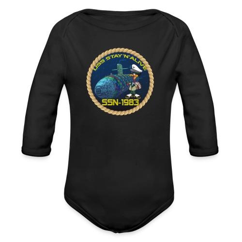 Command Badge SSN-1983 - Organic Longsleeve Baby Bodysuit