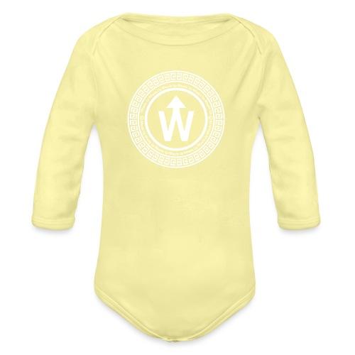 wit logo transparante achtergrond - Baby bio-rompertje met lange mouwen