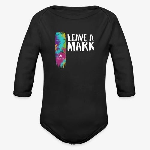 Leave a mark - Organic Longsleeve Baby Bodysuit