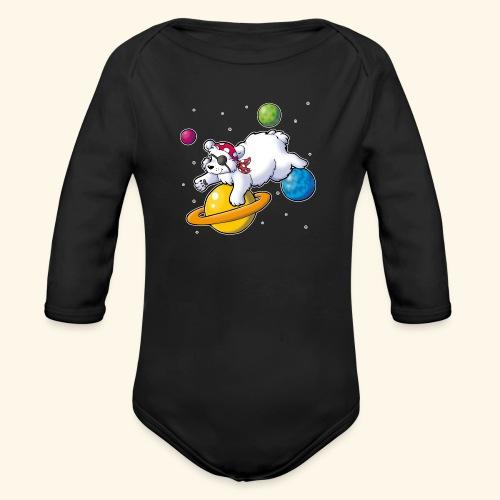 Piraten Eisbär im Weltall - Baby Bio-Langarm-Body