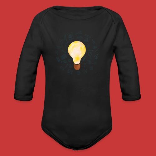 5 IDEEN Glühbirne 2018 - Baby Bio-Langarm-Body