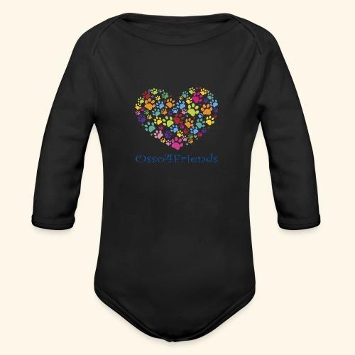 CUOREZAMPE - Body ecologico per neonato a manica lunga