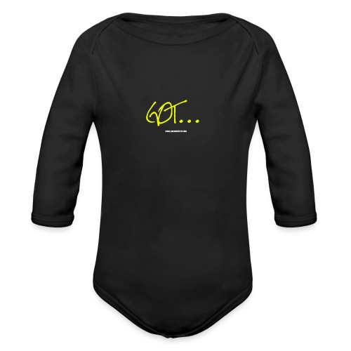 GOT LARGE LOGO - Organic Longsleeve Baby Bodysuit