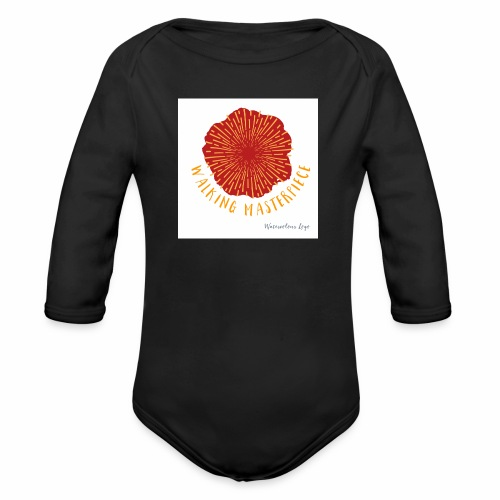 Walking Masterpiece - Organic Longsleeve Baby Bodysuit