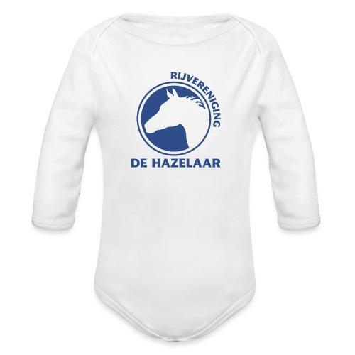 LgHazelaarPantoneReflexBl - Baby bio-rompertje met lange mouwen