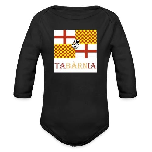 Bandera Tabarnia con escudo y nombre - Body orgánico de manga larga para bebé