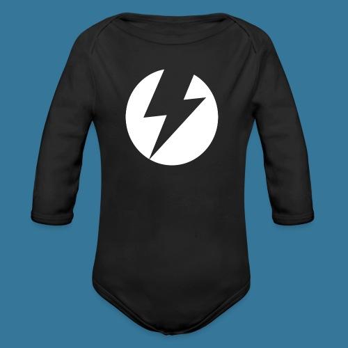 BlueSparks - White - Organic Longsleeve Baby Bodysuit