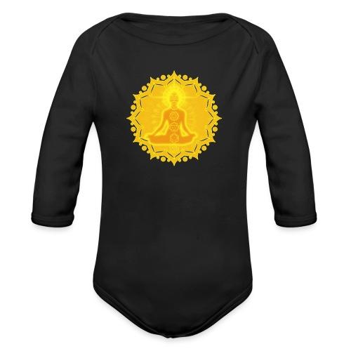 Yoga Lotus Meditation Chakren III - Baby Bio-Langarm-Body
