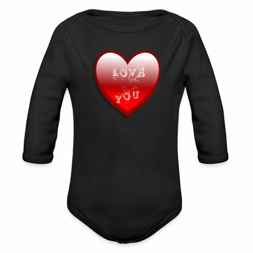 Love You - Baby Bio-Langarm-Body