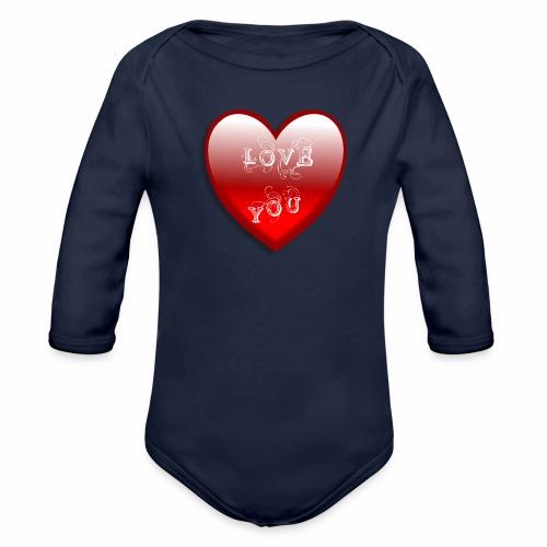 Love You - Baby Bio-Langarm-Body