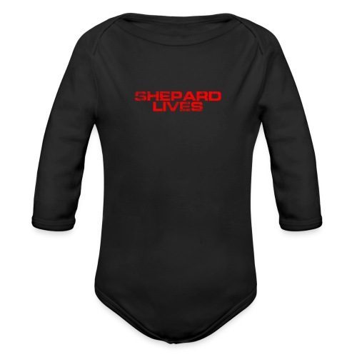 Shepard lives - Organic Longsleeve Baby Bodysuit