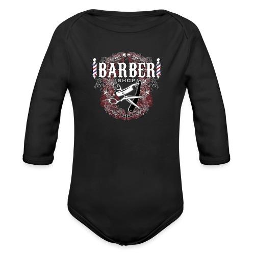 Barber Shop_03 - Body ecologico per neonato a manica lunga