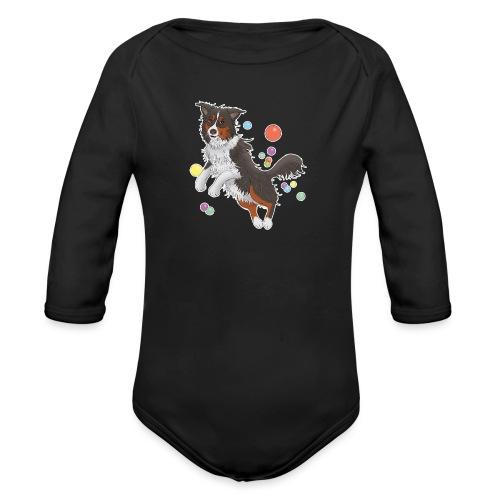 Australian Shepherd - Baby Bio-Langarm-Body