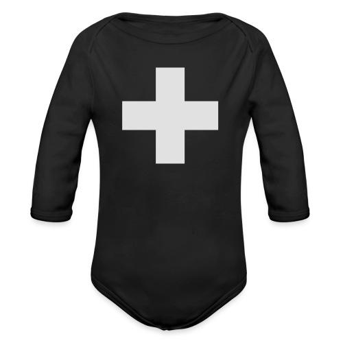 Kreuz - Baby Bio-Langarm-Body