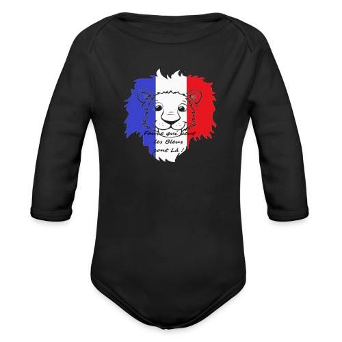 Lion supporter France - Body Bébé bio manches longues