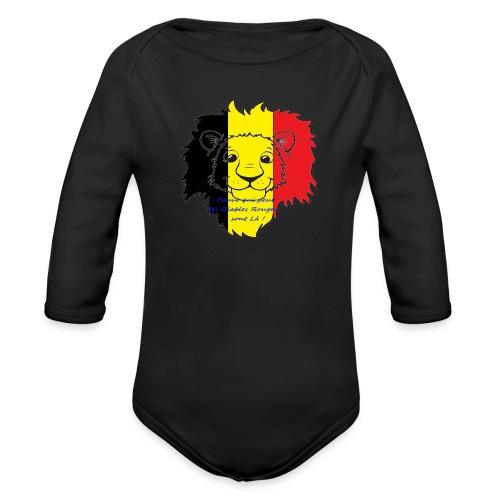 Lion supporter Belgique - Body Bébé bio manches longues