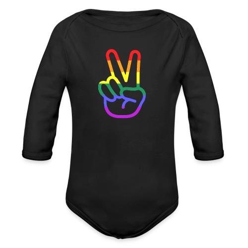 Peace Hand - Baby Bio-Langarm-Body
