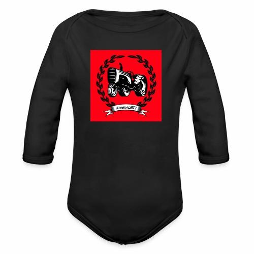 KonradSB czerwony - Ekologiczne body niemowlęce z długim rękawem