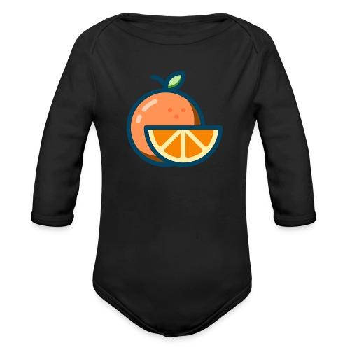 orange - Organic Longsleeve Baby Bodysuit
