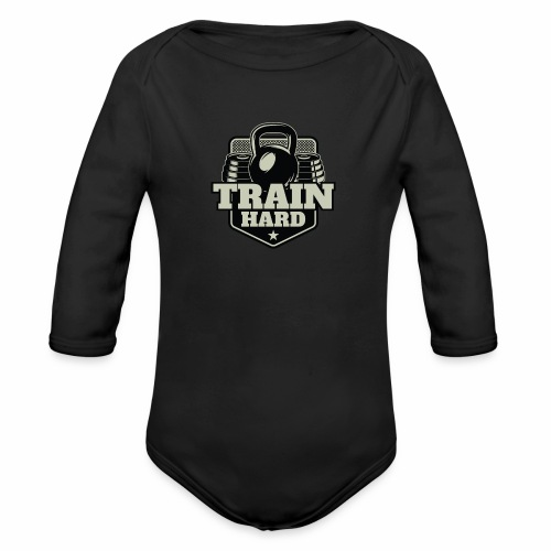 Train Hard - Baby Bio-Langarm-Body