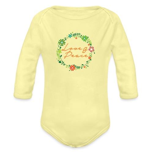 Love and Peace - Organic Longsleeve Baby Bodysuit