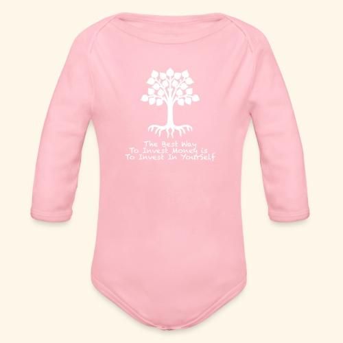 Printed T-Shirt Tree Best Way Invest Money - Body ecologico per neonato a manica lunga