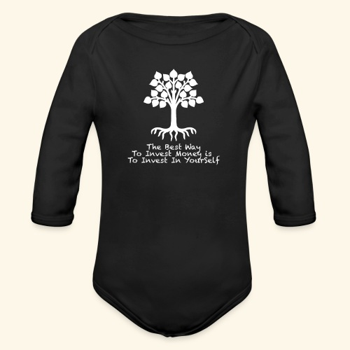 Printed T-Shirt Tree Best Way Invest Money - Body ecologico per neonato a manica lunga