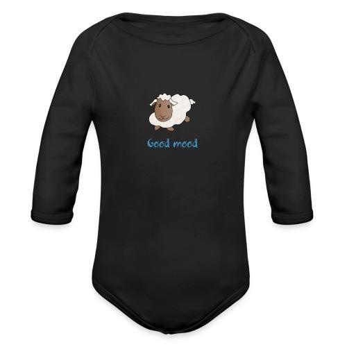 Nadège le petit mouton blanc - Body Bébé bio manches longues