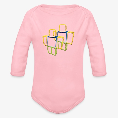 Sqaure Noob Person - Organic Longsleeve Baby Bodysuit