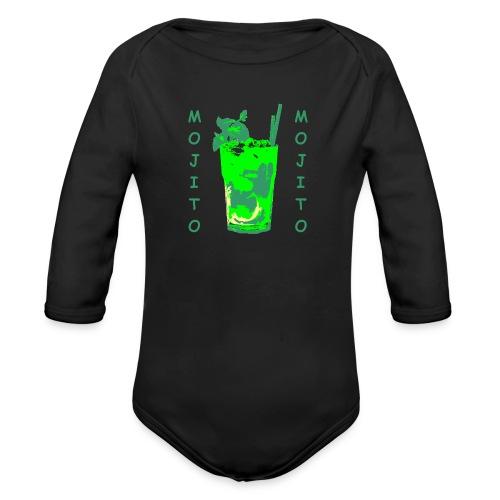 Mojito bicchiere colorato - Body ecologico per neonato a manica lunga