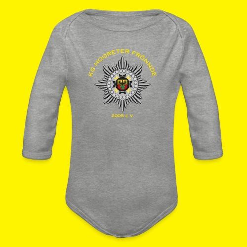 Gelbe Schrift - Baby Bio-Langarm-Body