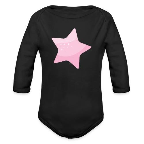 Star pink - Body orgánico de manga larga para bebé