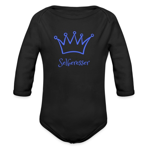 Selberesser blau - Baby Bio-Langarm-Body
