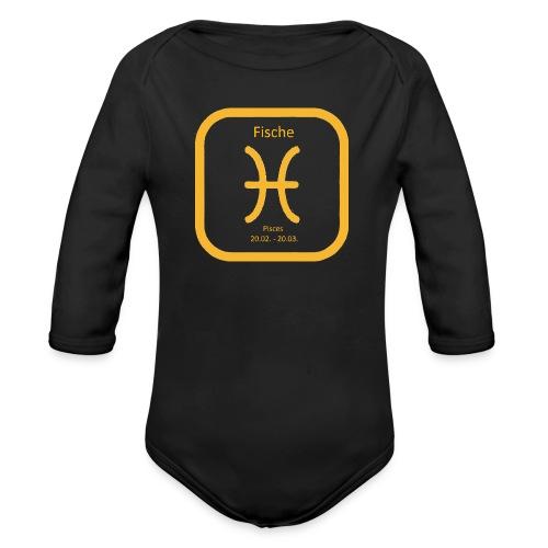 Horoskop Fische12 - Baby Bio-Langarm-Body