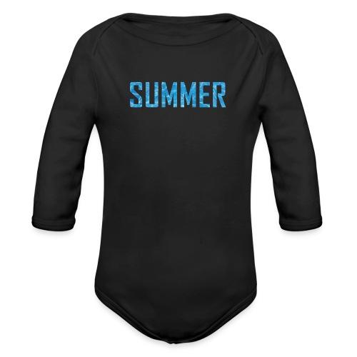 summer - Organic Longsleeve Baby Bodysuit