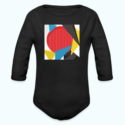 Geometry collage Abstract colors - Organic Longsleeve Baby Bodysuit