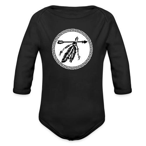 Pfeil mit Federn, Schutz & Kraft Symbol, Indianer - Baby Bio-Langarm-Body