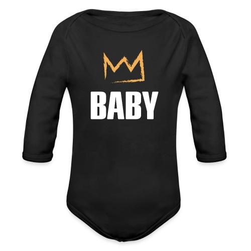 Baby mit Krone - Baby Bio-Langarm-Body