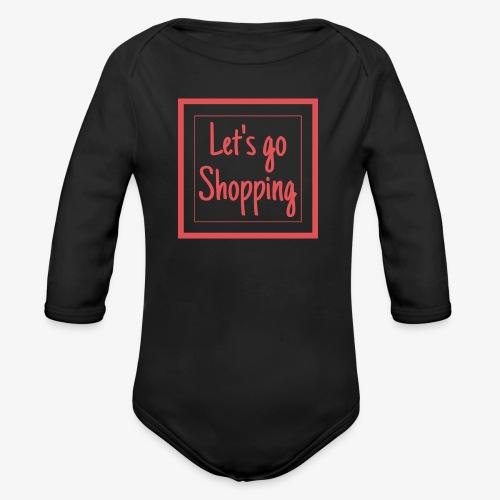 Let's go shopping - Body ecologico per neonato a manica lunga
