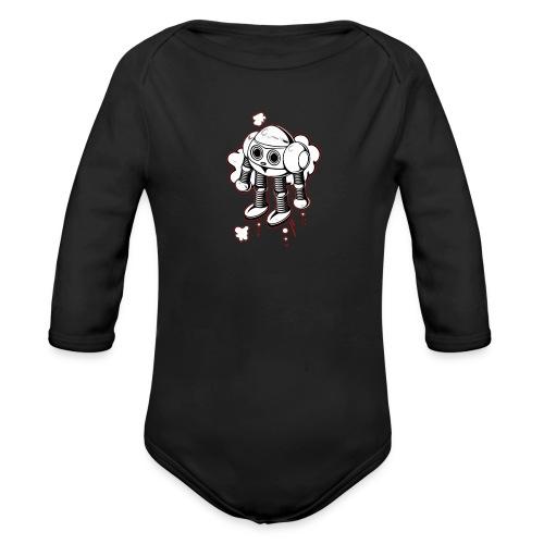 Lustiges FKinder Robot Shirt vintage Geschenkidee - Baby Bio-Langarm-Body