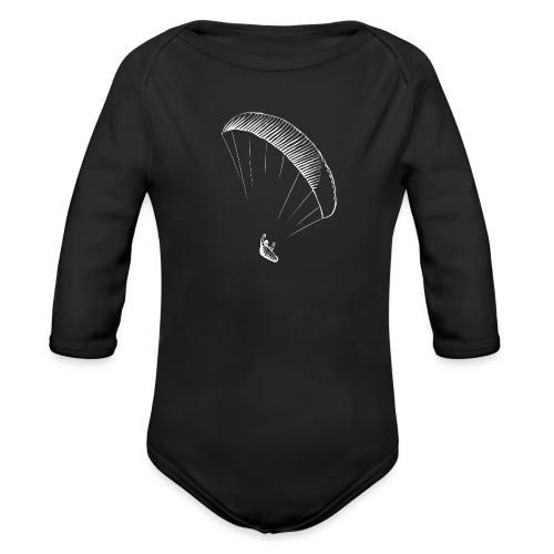 paraglider gerlitzen weiss - Baby Bio-Langarm-Body
