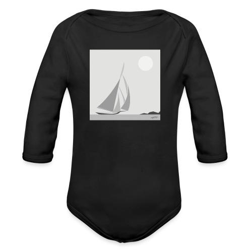 sailing ship - Organic Longsleeve Baby Bodysuit
