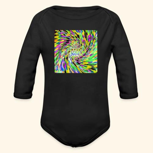 Vortice psichedelico - Body ecologico per neonato a manica lunga