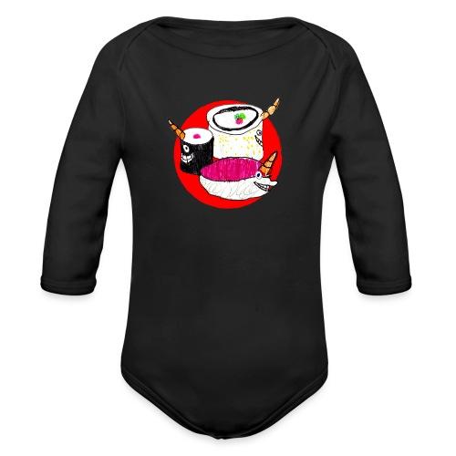 Unicorn Sushi - Organic Longsleeve Baby Bodysuit