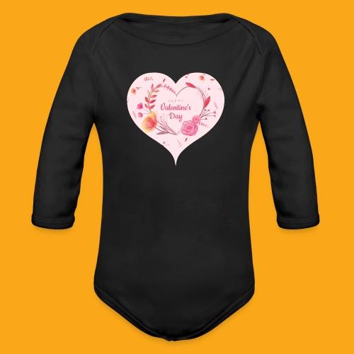 Happy Valentinesday - Baby Bio-Langarm-Body