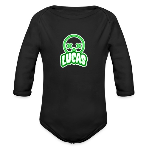 Lucas (Horror) - Baby bio-rompertje met lange mouwen